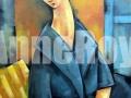 Jeanne en bleu