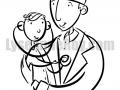Médecin et bébé