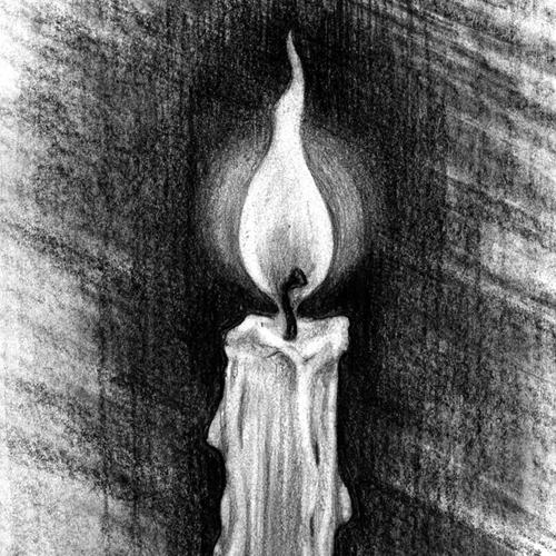 Comment dessiner une flamme de bougie?